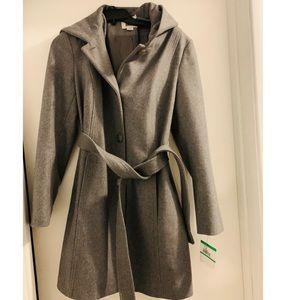 Anne Klein women's single breasted wool coat